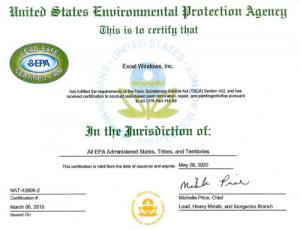EPA Lead Free Certification