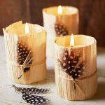 decorate your home for fall on a dime candle